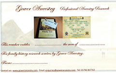 Gower Ancestry gift vouchers